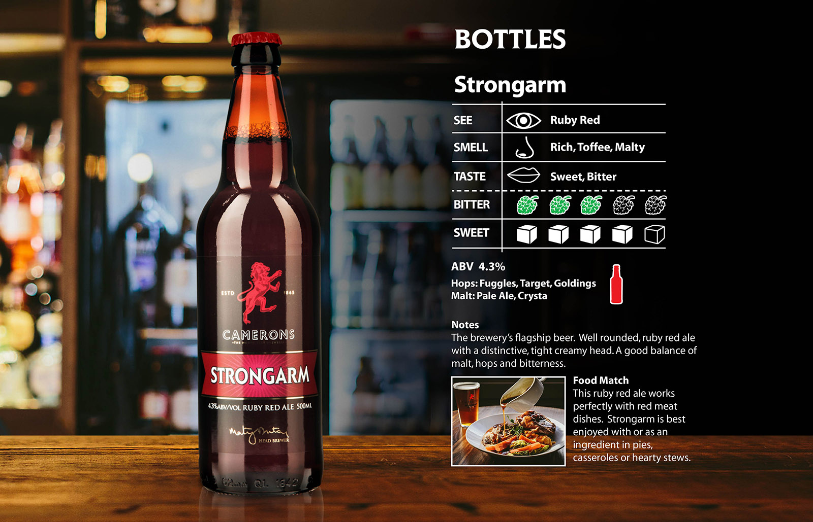 strongarm bottle - camerons brewery