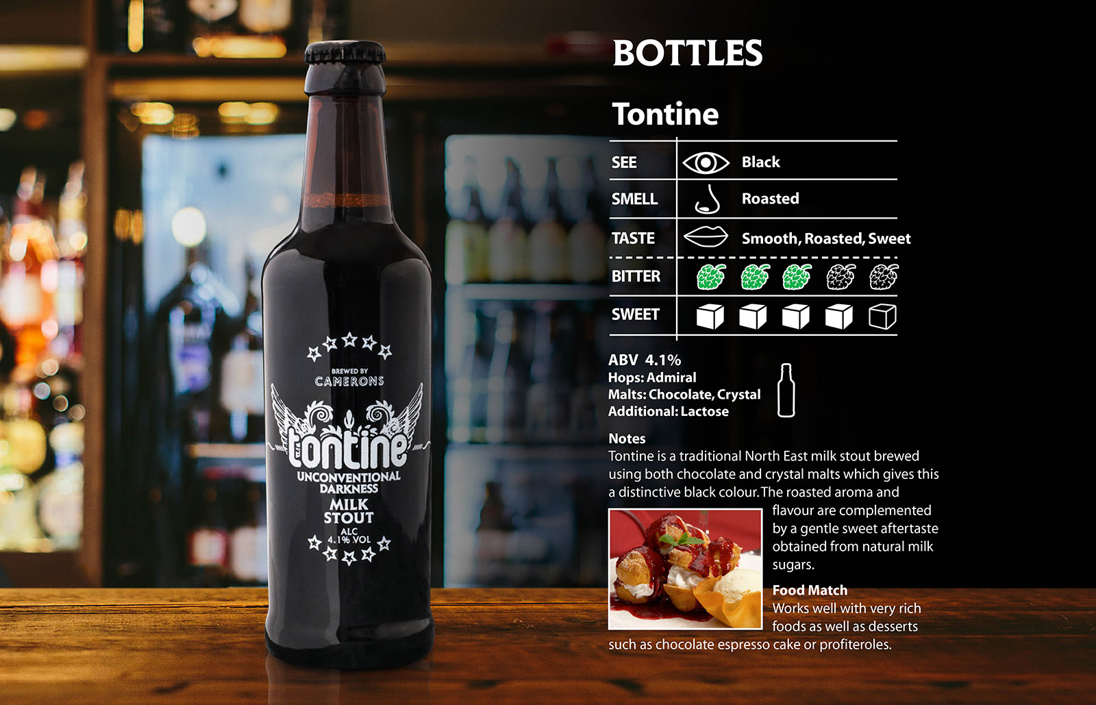 tontine bottle - camerons brewery