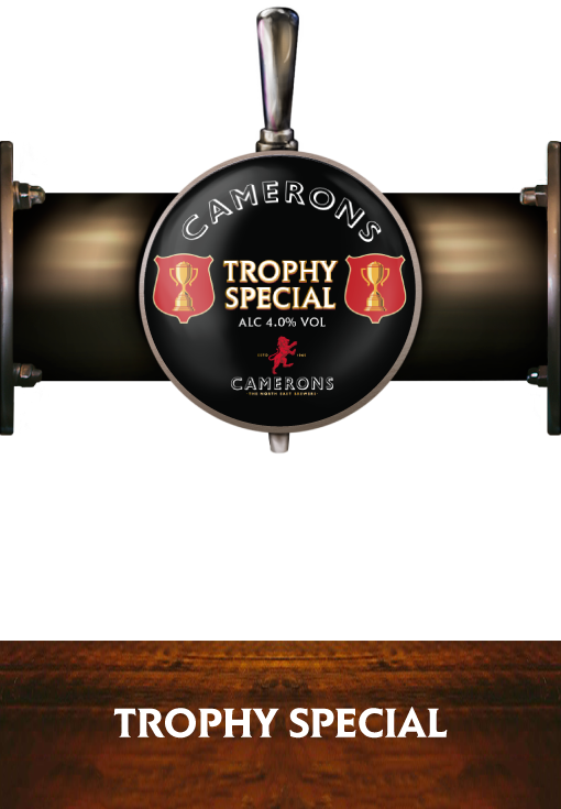 Trophy Special - Pump Clip - Camerons Brewery
