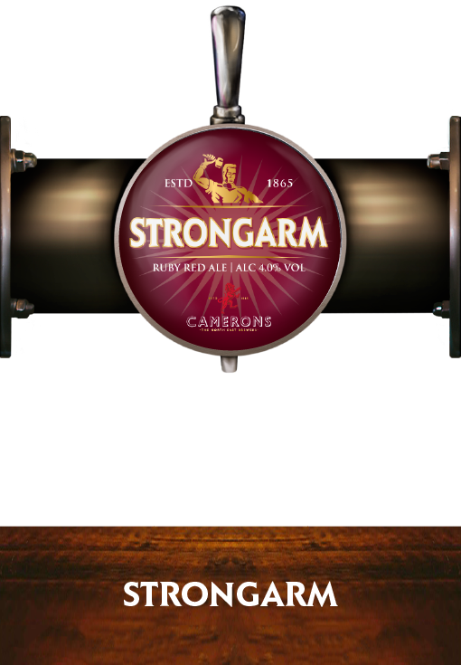 Strongarm - Pump Clip - Camerons Brewery