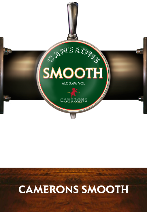 Camerons Smooth - Pump Clip - Camerons Brewery