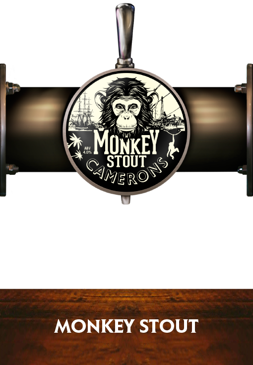Monkey Stout - Pump Clip - Camerons Brewery