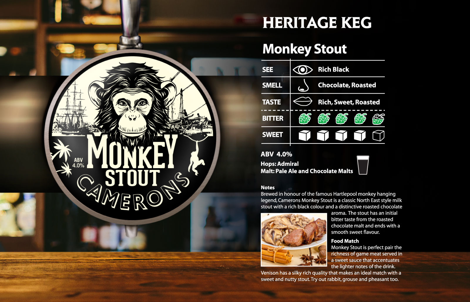 monkey Stout Heritage Keg