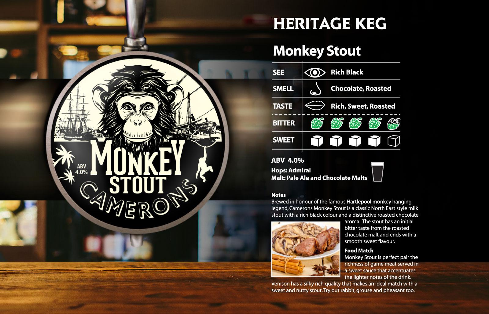monkey Stout Heritage Keg
