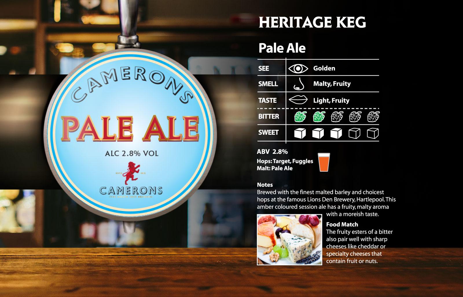 Camerons Pale Ale Heritage Keg