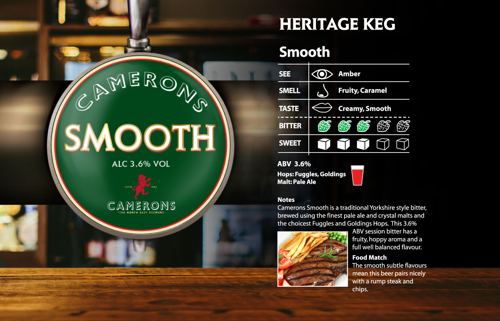 Camerons Smooth Heritage Keg