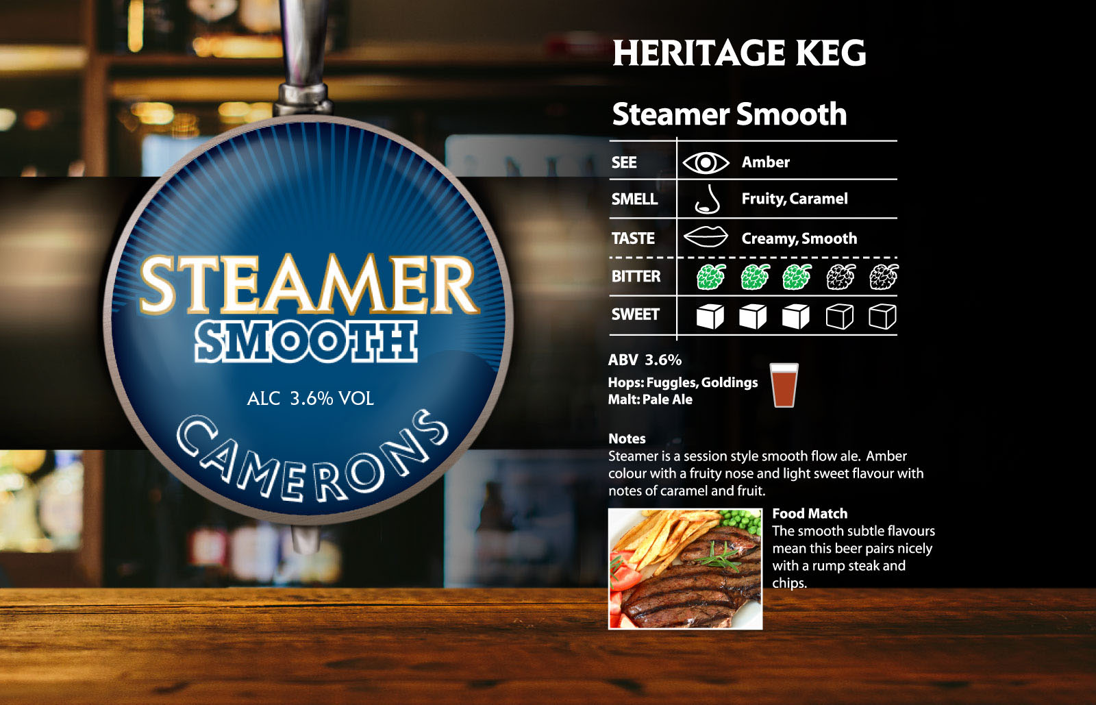steamer smooth - camerons brewery