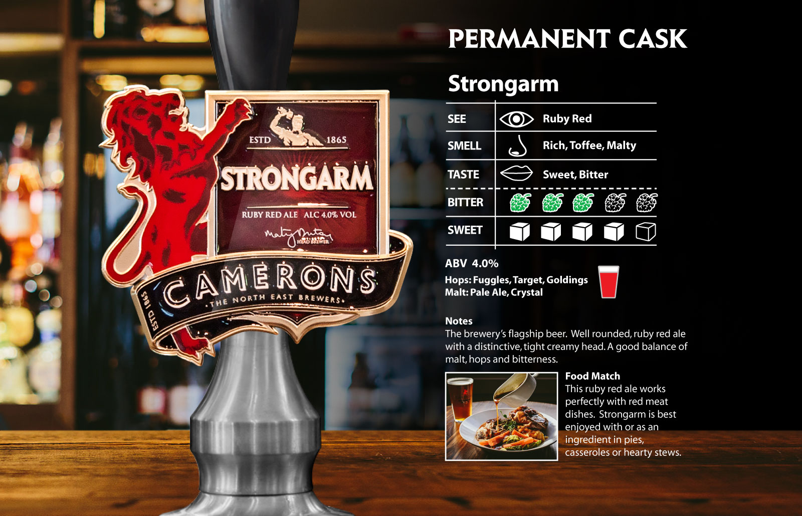 Strongarm - cask - camerons brewery